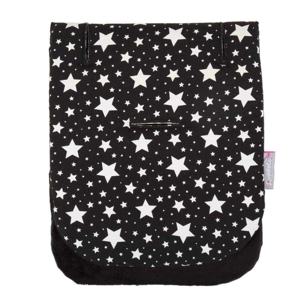 Comfi-Cush Memory Foam Stroller Liner - Black & White Stars by CuddleCo (Image #8)