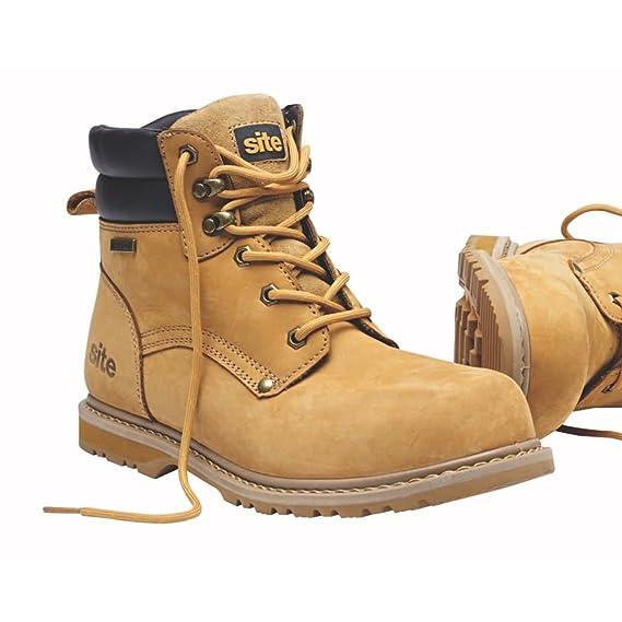 Sitio sabana impermeable botas de seguridad marrón talla 12 ...