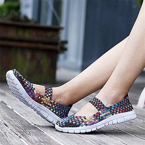 Ligeras de Color Mujeres Deporte Las Zapatillas Deporte de de Las Casuales de Transpirables Zapatillas qwvECHw