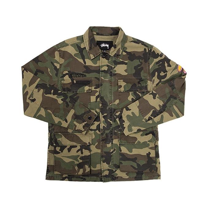 metà fuori db615 43969 Stussy Giacca Uomo Tessuto Verde Militare 115366: Amazon.it ...