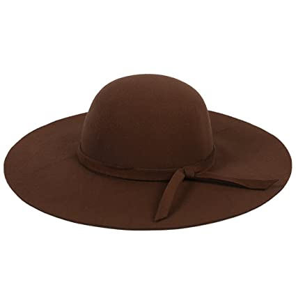 56195ec3aed555 Image Unavailable. Image not available for. Color: SODIAL(R) Stylish Kids  Girls Wide Brim Retro Felt Bowler Floppy Cap Cloche Hat