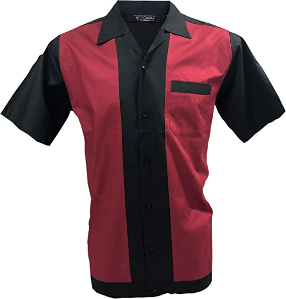 1950s/1960s Rockabilly, Bowling, Retro, Vintage Mens Shirt: Amazon.es: Ropa y accesorios