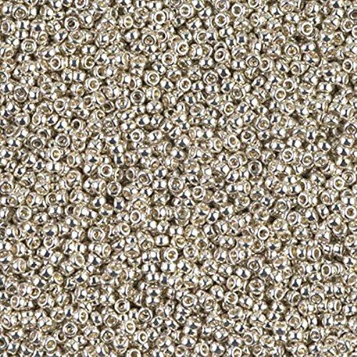 Miyuki Round Seed Bead Size 15/0 8.2g-tube Galvanized Silver