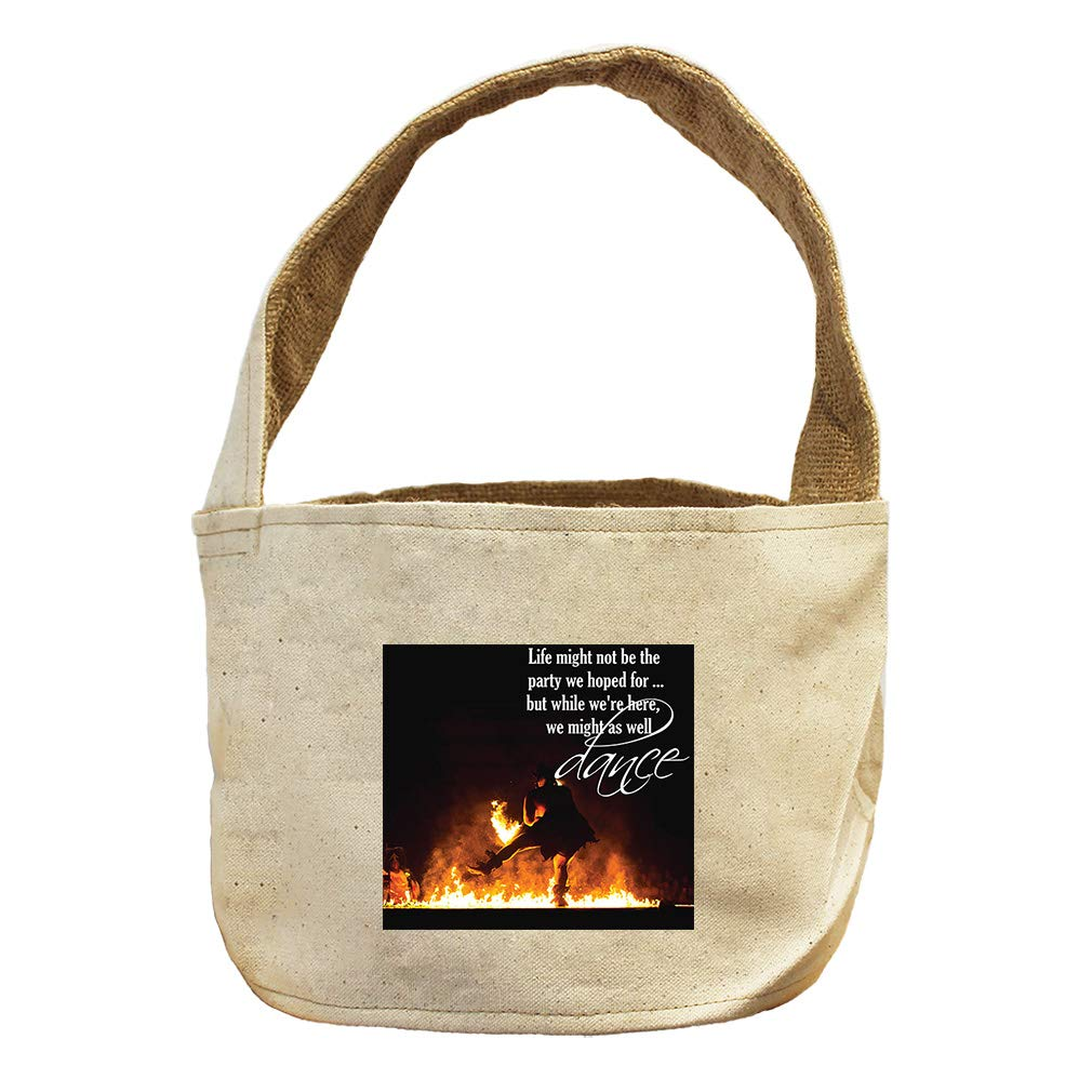 Style in Print Light Might Not The Party But We Might Dance Canvas and Burlap Storage Basket