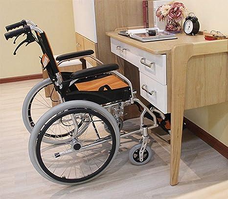 Lunzi Silla de ruedas plegable Silla de ruedas plegable ...