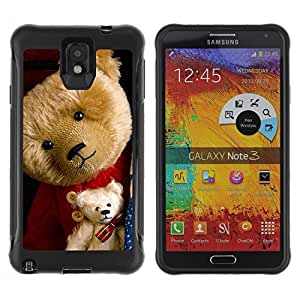 SHIMIN CAO@ Big & Small Teddy Bear Rugged Hybrid Armor Slim Protection Case Cover Shell For Note 3 Case ,N9000 Leather Case ,Leather for Note 3 ,Case for Note 3 ,Note 3 case