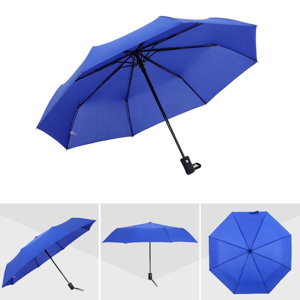 Chartsea Windproof Travel Mini Umbrella Light Portable Umbrella Closed Height: 25cm (Blue)