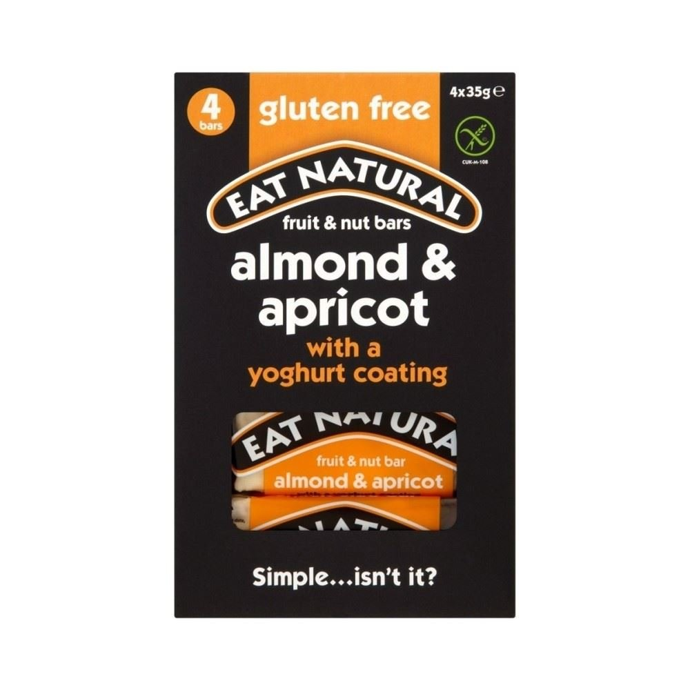 Eat Natural Gluten Free Almonds Apricots & Yoghurt Bars 4 x 35g - Pack of 2