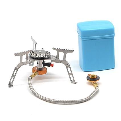 Rayinblue Mini portátil estufa de cocinar al aire libre quemador de gas para barbacoa de Camping