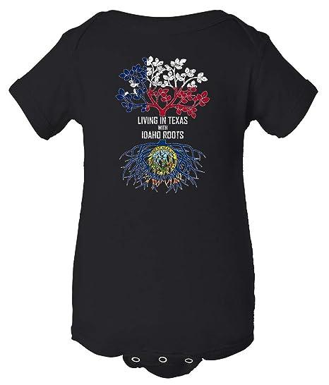Tenacitee Unisex Living in Texas with Idaho Roots Sweatshirt