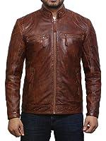 Brandslock Men's Lambskin Genuine Leather Biker Jacket