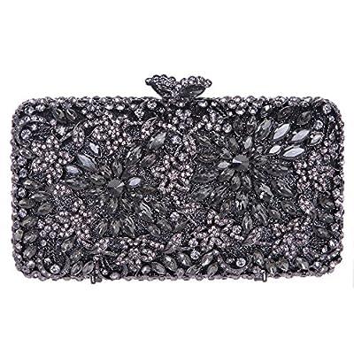 Fawziya Flower Clutch Purse Luxury Women Crystal Evening Clutch Bags