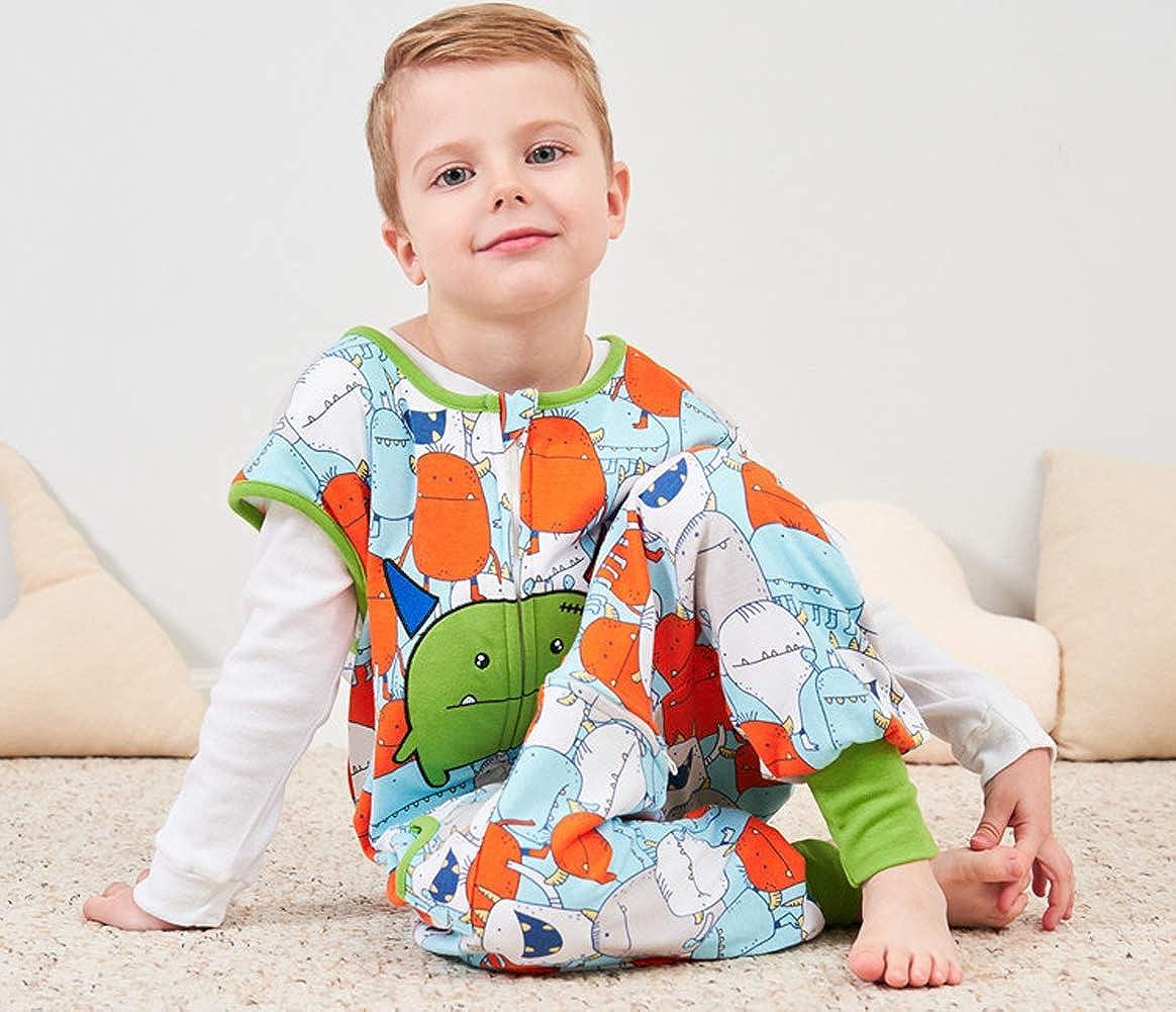 100/% Cotone Coralup Motivo: Dinosauro e Pinguino Stampato Senza Maniche colorato, 0-8 Anni Sacco Nanna per Bambini con Maniche