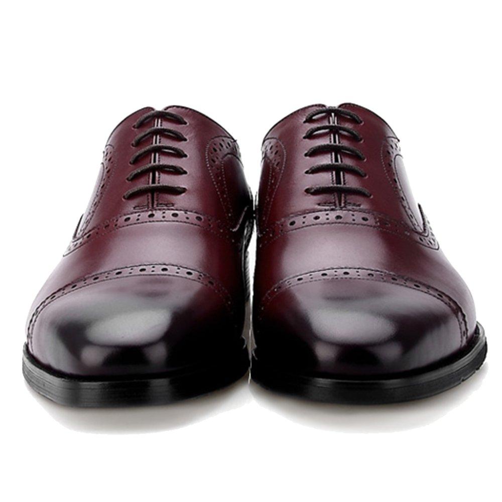 ... MERRYHE Herren Classic Formelle Oxford Echtleder Derby Brogues Formelle  Classic Schuh Business Anzug Schuhe Schnürschuhe Square ... d6b9cba4cd