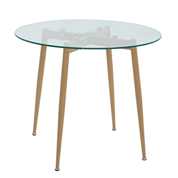 mo living 90 x 75 cm dining table glass top round dining table glass