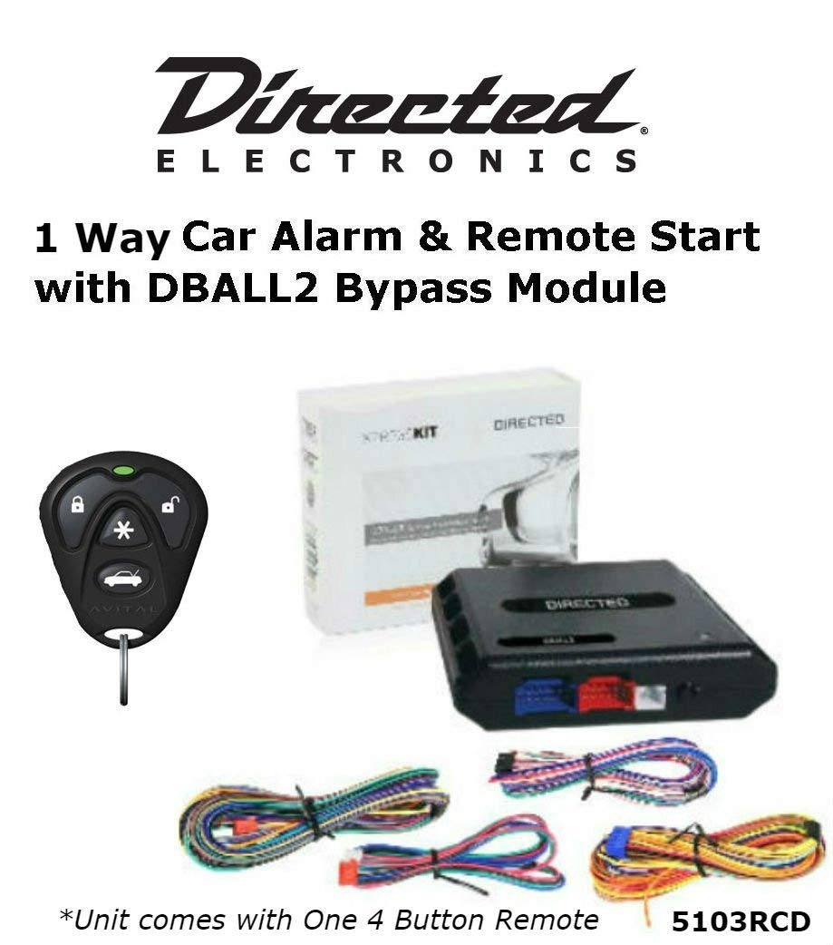 Ready Remote 5103R 1 Way Car Alarm & Remote Start System with One 4 Button Remote and Bypass Module DBALL2 Package Sound of Tri-State