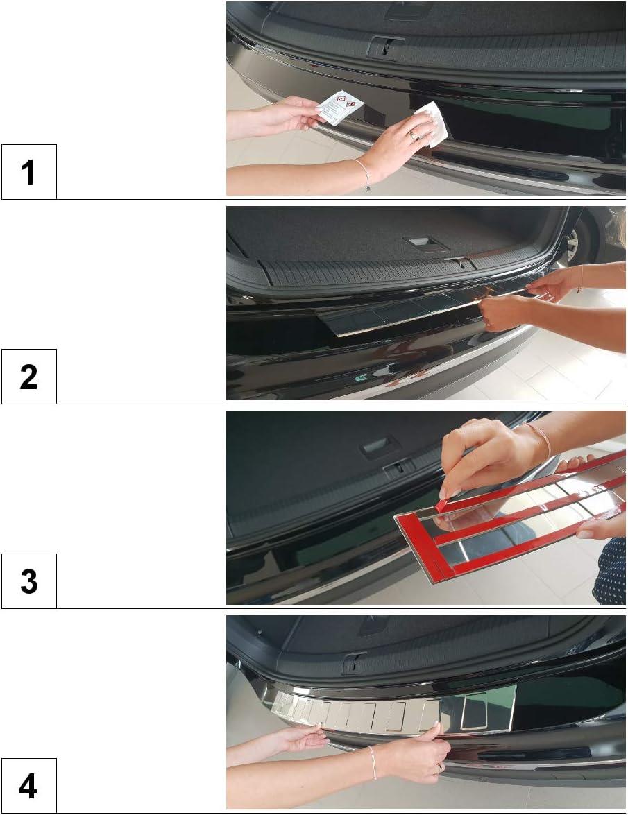 Protection pare-chocs voiture en acier 5902538819480 satin argent