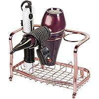 mDesign Soporte para secador de pelo sin taladro