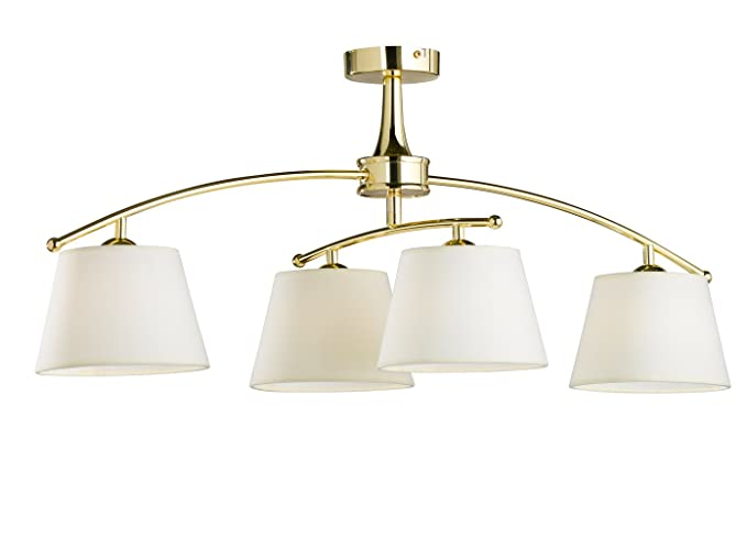 Moderne Lampen 61 : Swing 4 prestige shade flush ceiling fitting with led polished