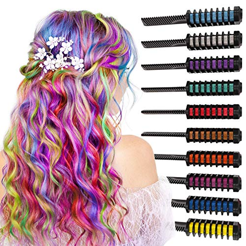 🥇 ARTEZA 10 Colors Hair Chalk Combs