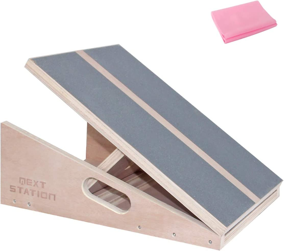 Next-Station Calf Stretcher Slant Board Professional Wooden Adjustable Incline Stretch Board Non-Slip Surface