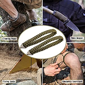 Pocket Chainsaw with Paracord Handle 36 Inches 16 Teeth Long Chain Hand Saw Fast Wood & Tree Cutting Emergency Survival Gear Best for Camping Backpacking Hiking Hunting.