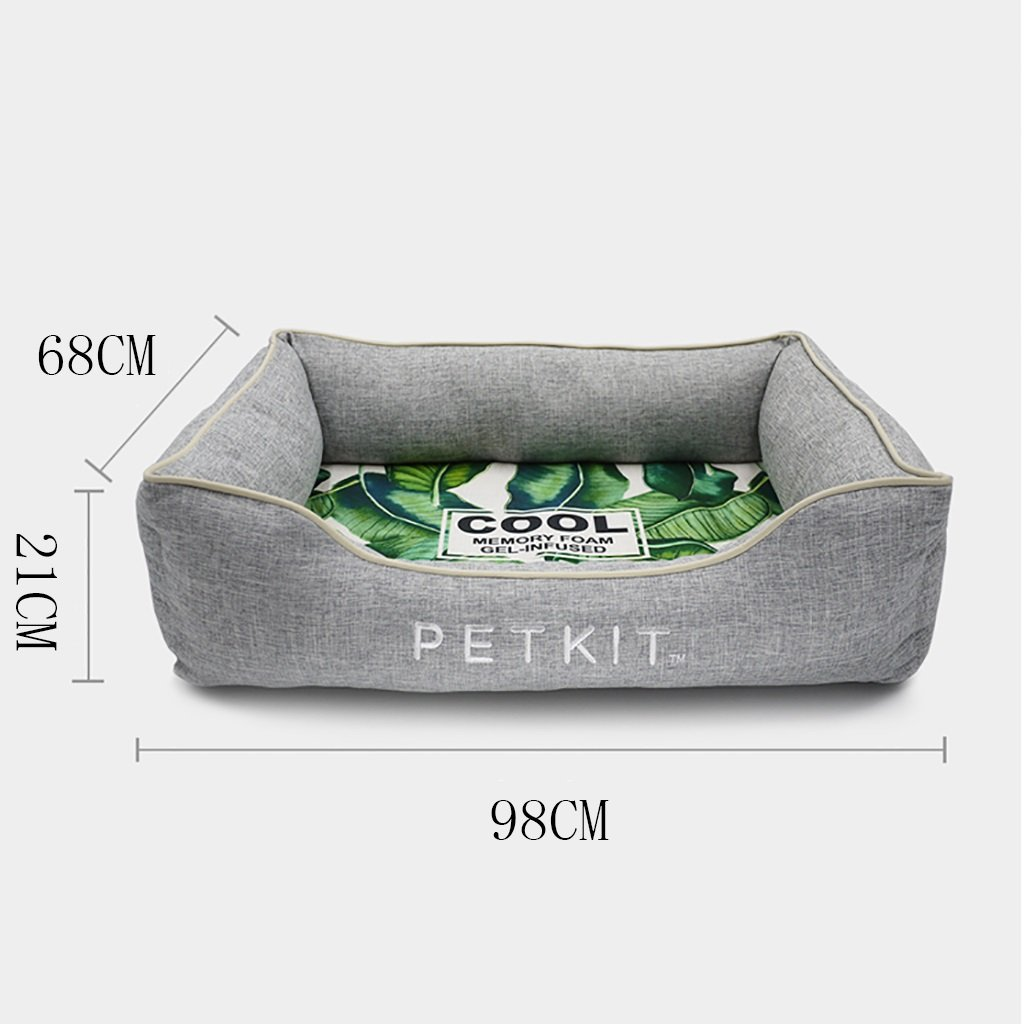 GJ@ + Pet Kennel Cat Nest Desmontable y Lavable Cuatro Estaciones ApplySmall Perro Cama Mat Dog Room (Gris) 90 * 68 * 21cm ##: Amazon.es: Hogar