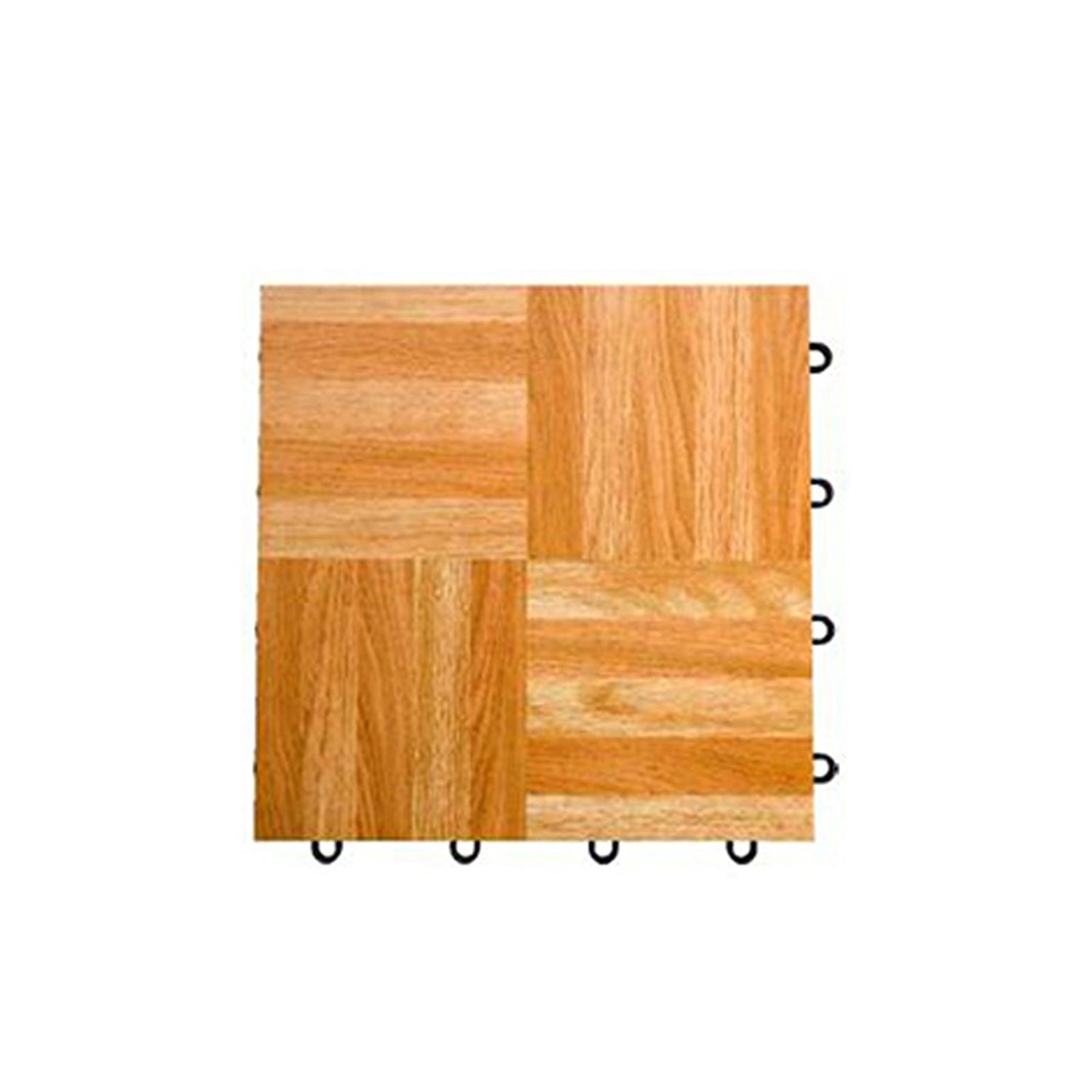 12 Interlocking Modular Grid Loc Tap Dance Tiles Oak 9 Piece