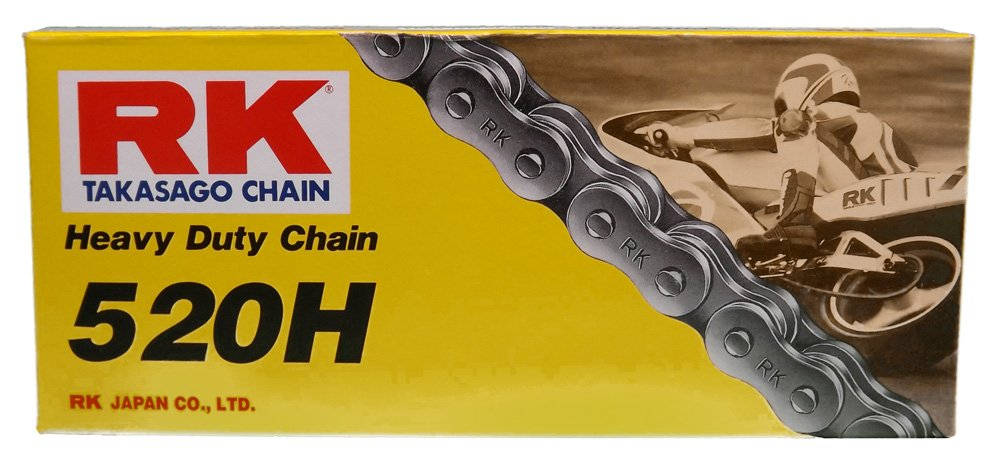 RK Racing Chain M520HD-120 (520 Series) 120-Links Standard Non O-Ring Chain with Connecting Link