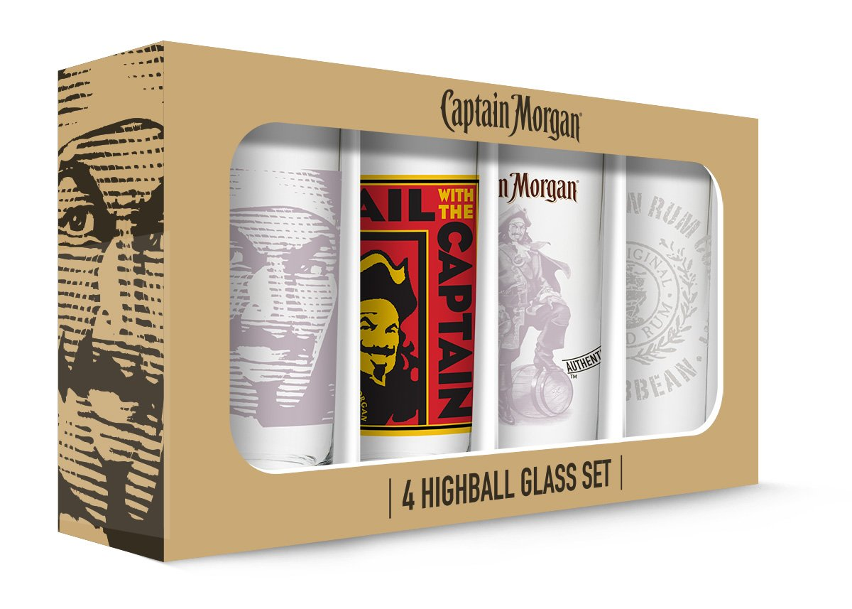 Captain Morgan Hi Balls (Set of 4), Clear PB Licensing USA GD16139HB