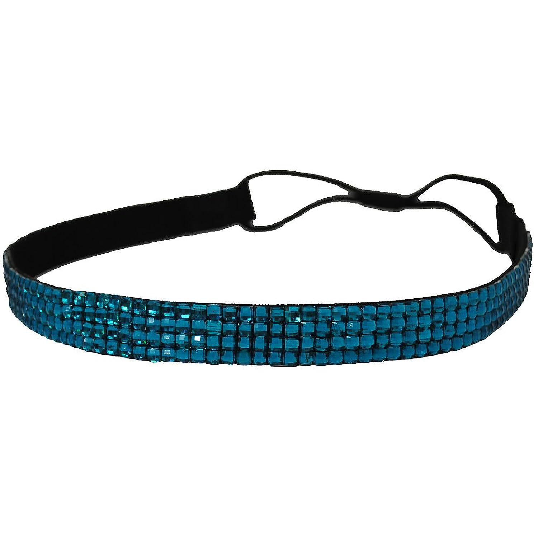 bling elastic stretch rhinestone headband hair band hair accessory aqua at amazon womenu0027s clothing store fashion headbands