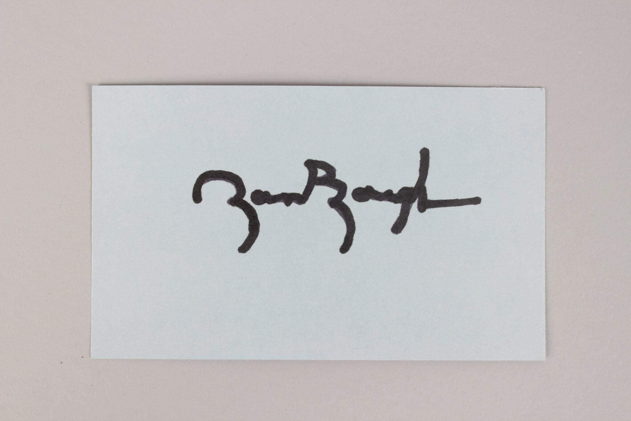 Sammy Baugh Signed Index Card Redskins COA JSA Certified NFL Cut Signatures