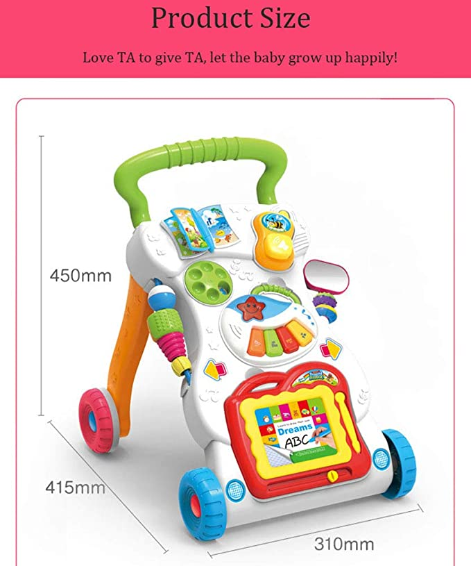 Pasos De Bebé Actividad Walker Toy Soporte Musical ...