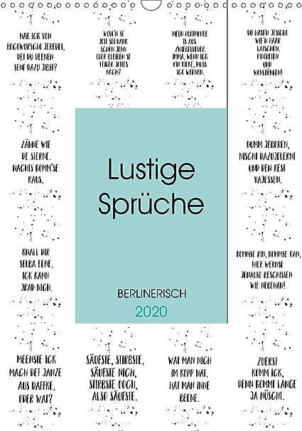 Berlinerisch Lustige Sprüche Wandkalender 2020 Din A3