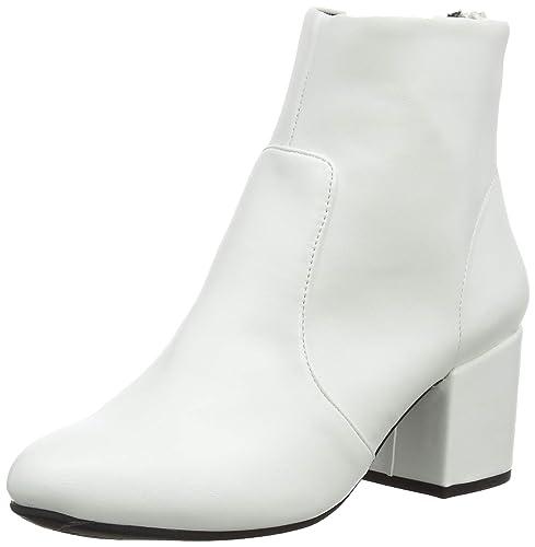 New Look Crinkle 2, Botines para Mujer, Blanco (White 10), 41 EU: Amazon.es: Zapatos y complementos