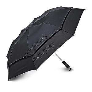 Samsonite Luggage Windguard Auto Open Umbrella, Black