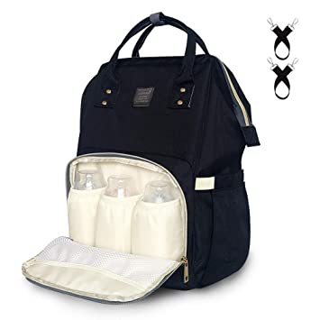 2494c182a Amazon.com   Baby Diaper Bag Large Capacity Baby Backpack Bag  Multi-Function Waterproof Travel Maternity Nappy Bag for Mom and Dad with  Stroller Straps