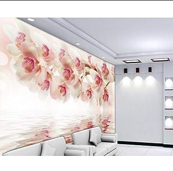 9c234c8617b Finloveg Moderno Hogar Personalizado 3D Fresco Wallpaper Dormitorio Televisión  Fondo Wallpaper Mural Sueño Orquídea Flor 3D Wallpaper-400X280Cm:  Amazon.es: ...