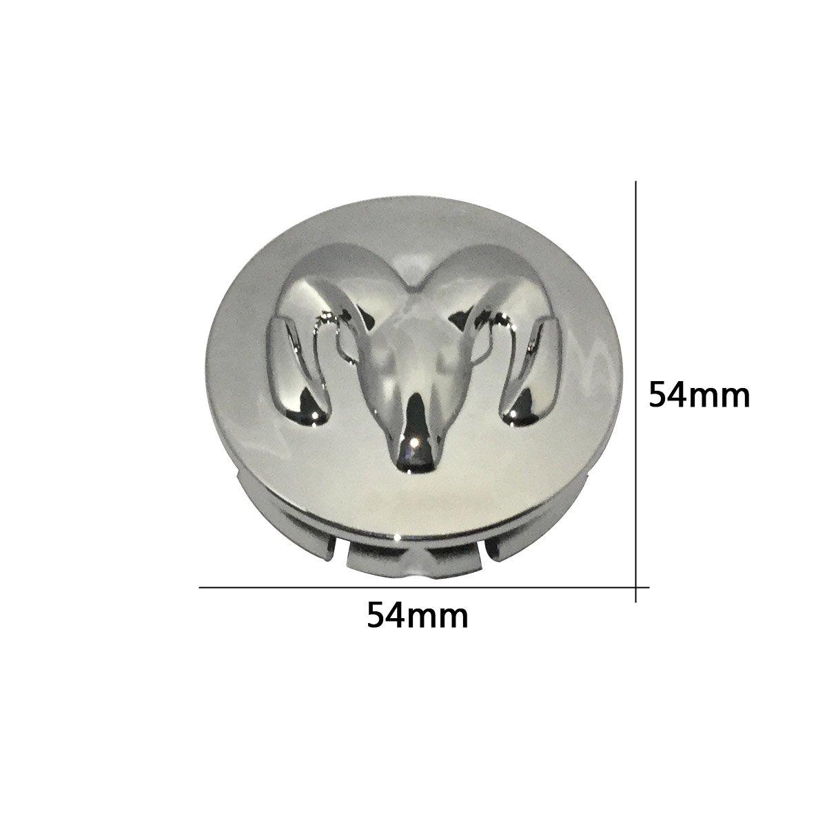 New 1pcs Dodge Keychain Lanyard Badge Holder 4pcs set 54mm Wheel Center Caps Fit For Dodge