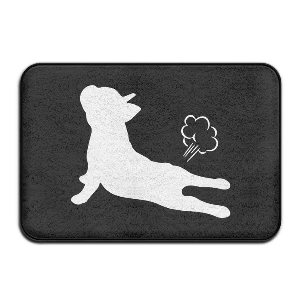UDSNIS Mats French Bulldog Yoga Exhale Non-Slip Doormat Funny Rubber Door Rug Bath Mat All Weather Absorbent for Entrance Way Outdoors,Farmhouse,Living Room Etc