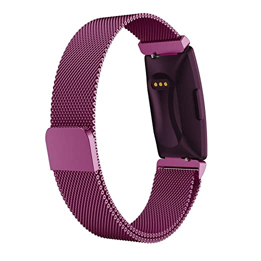 Amazon.com: Smart Watch Band Milanese Magnetic Wrist Strap for Fitbit Inspire HR & Inspire Banda de reloj inteligente (Silver): Car Electronics