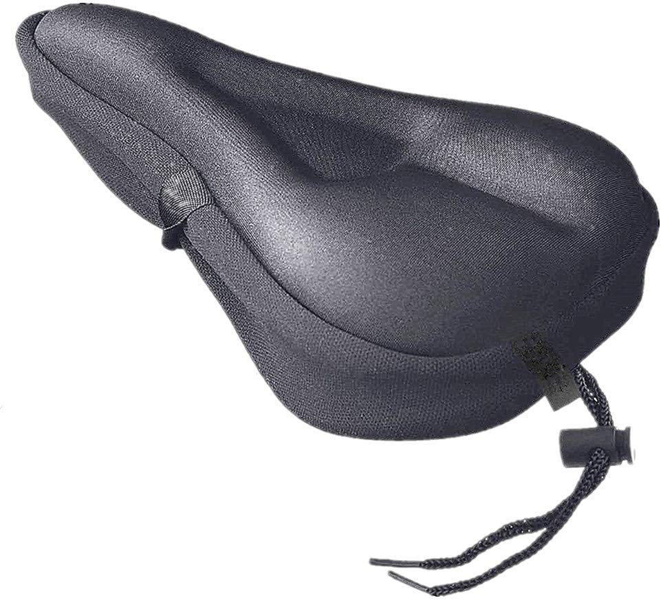 Exercise Bicycle Saddle Seat Cover Soft Silicone and Memory Foam Padded Bike Cushion Cover for Men and Women PSATCL Bike Saddle Cover-Bike Gel Seat Cover