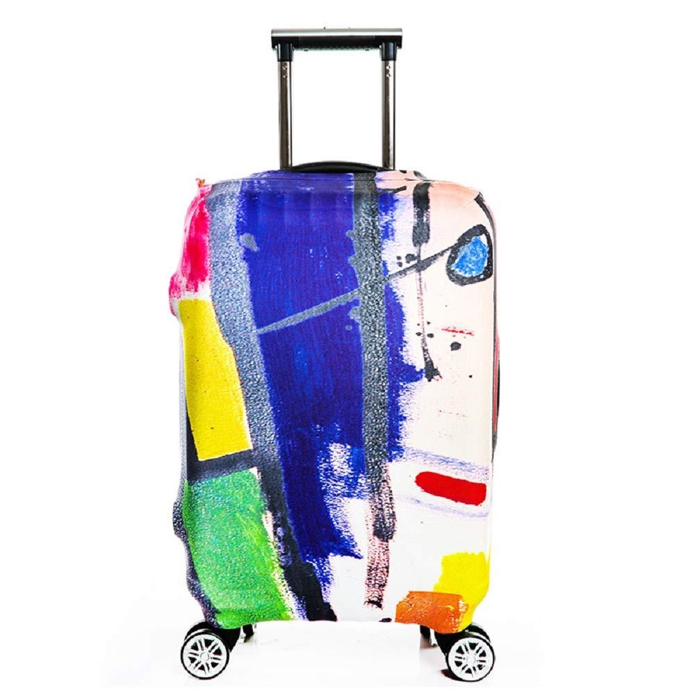 OuLi Store® Housse de Valise 18-32 Pouces Fibre de Charbon de Bambou Luggage Cover en Polyester Clear Voyage Luggage Trolley Case Cover Protector (Color 1, S-(18~20'')) S-(18~20''))