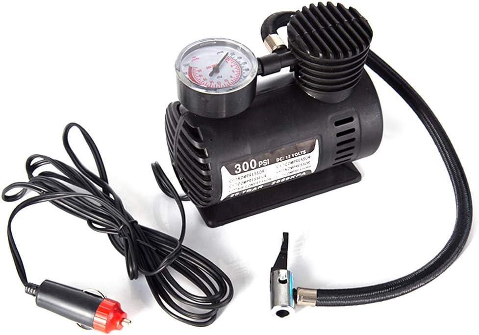 KKmoon Mini Pompa di Gonfiaggio Elettrica per Auto Portatile Gonfiatore Pneumatico 300PSI Pompa Automatica del Compressore per Auto Moto Pallacanestro