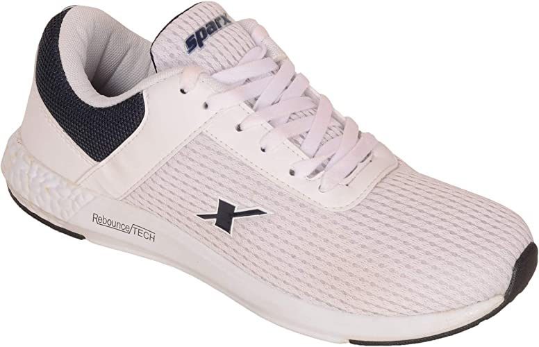 Sparx Men White Blue Running Sports Shoes: Amazon.es: Zapatos y complementos