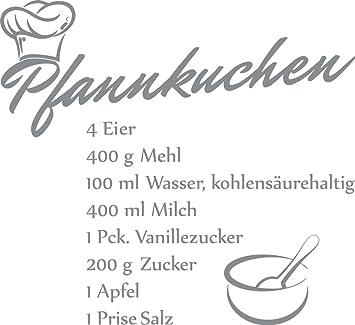 Grazdesign 62055457074 Wandtattoo Küche Pfannkuchen Rezept