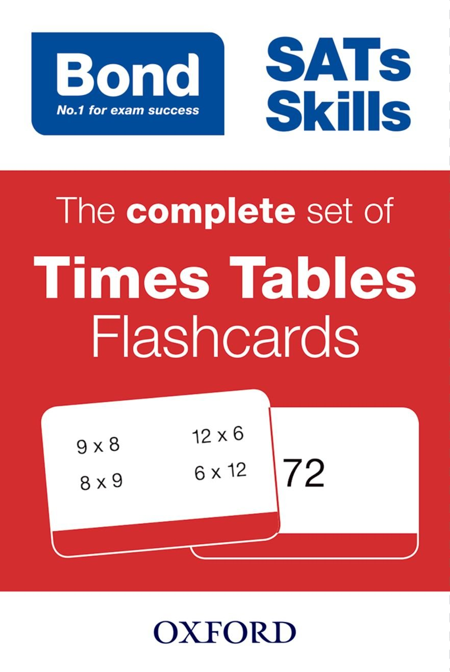 Bond SATs Skills  The Complete Set Of Times Tables Flashcards