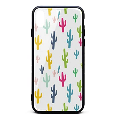 Amazon Com Colorful Cactus Wallpaper Phone Case For Iphone X Xstpu