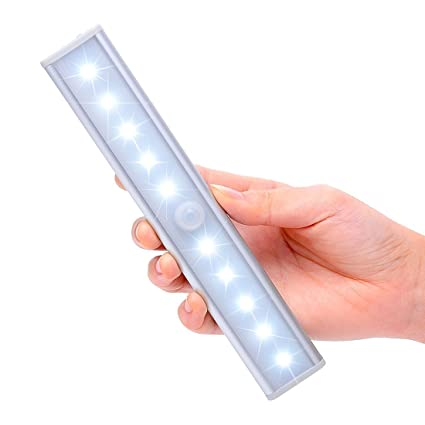 Satu Brown - Barra de luz nocturna con sensor de movimiento, 3 modos, con