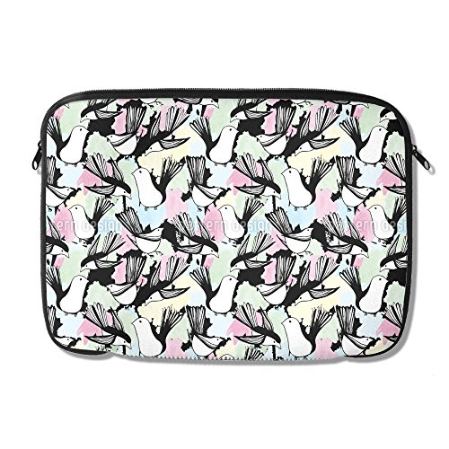 The Bird Bath Laptop Case 13 inch Neoprene Sleeve Case Pouch for Tablet Manufacturing Birdbath